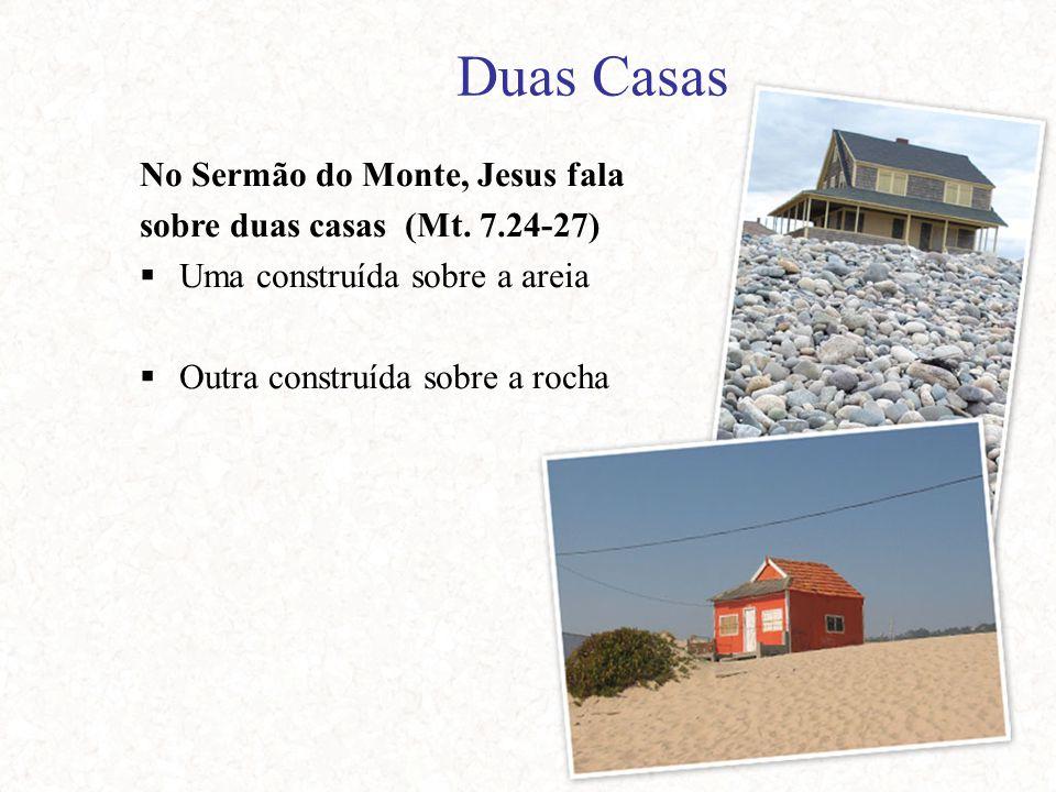 Duas Casas No Sermão do Monte, Jesus fala sobre duas casas (Mt.