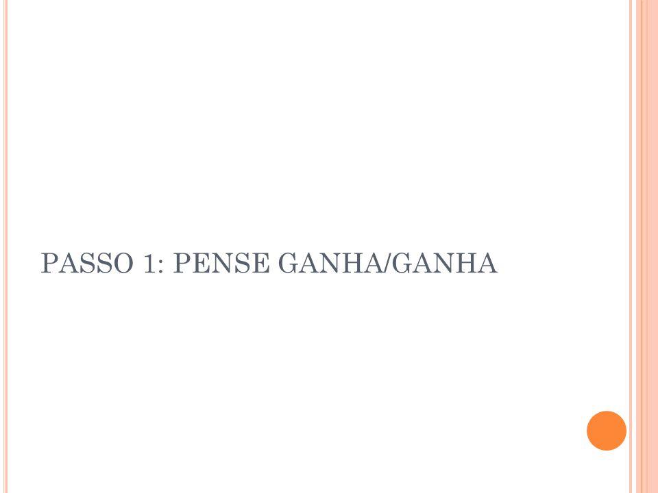 PASSO 1: PENSE GANHA/GANHA