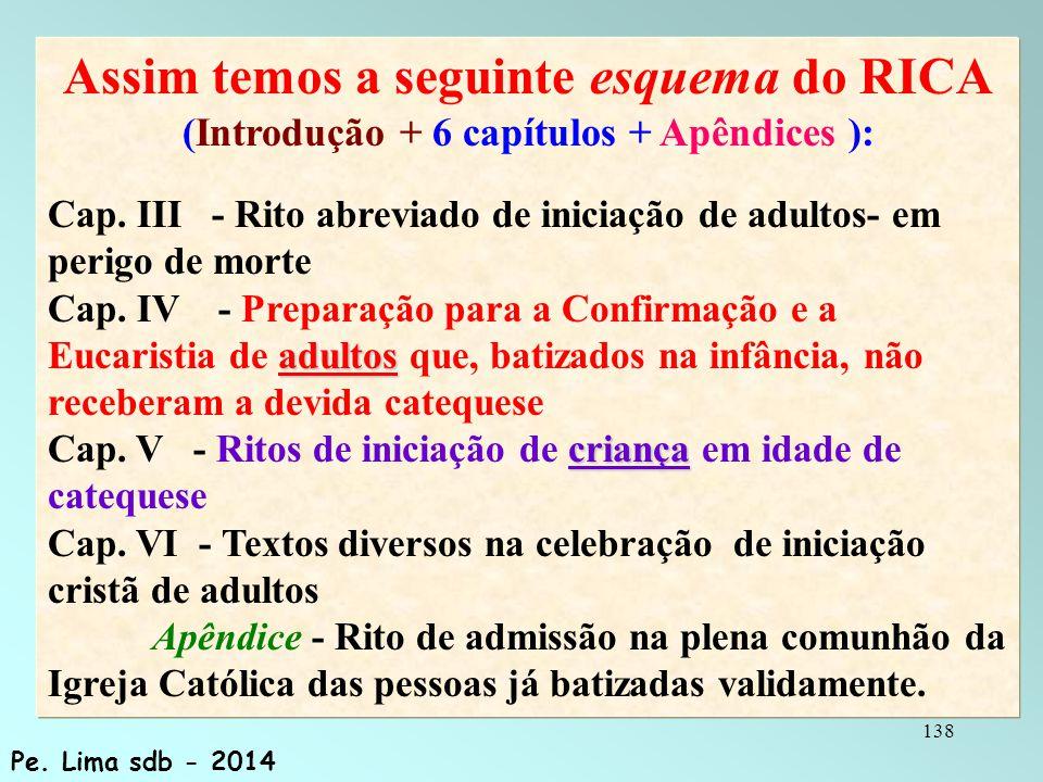 138 Assim temos a seguinte esquema do RICA (Introdução + 6 capítulos + Apêndices ): adultos criança Cap.
