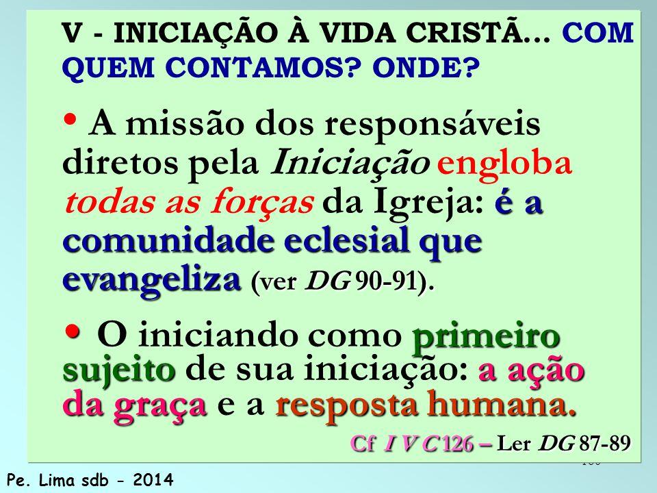 160 V - INICIAÇÃO À VIDA CRISTÃ...COM QUEM CONTAMOS.