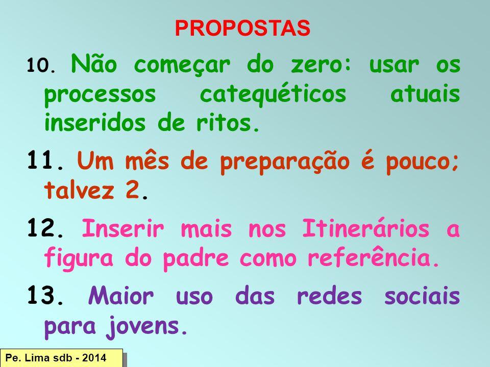 Pe.Lima sdb - 2014 PROPOSTAS 10.