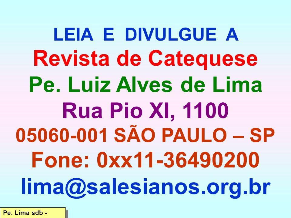 LEIA E DIVULGUE A Revista de Catequese Pe.