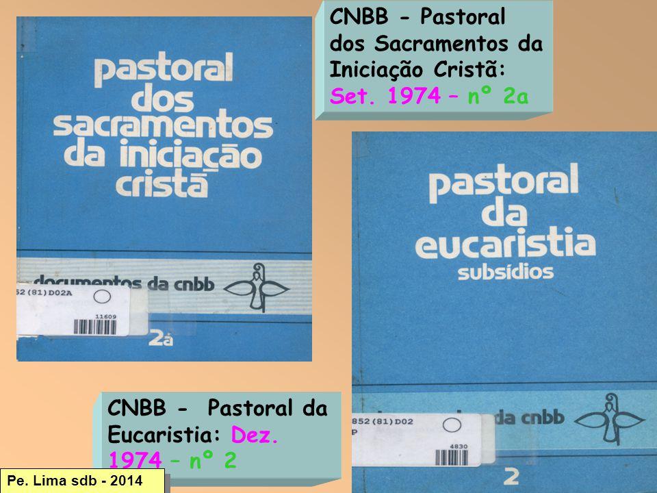 32 CNBB - Pastoral dos Sacramentos da Iniciação Cristã: Set.