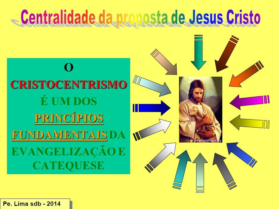 OCRISTOCENTRISMO É UM DOSPRINCÍPIOS FUNDAMENTAIS FUNDAMENTAIS DA EVANGELIZAÇÃO E CATEQUESE Pe.
