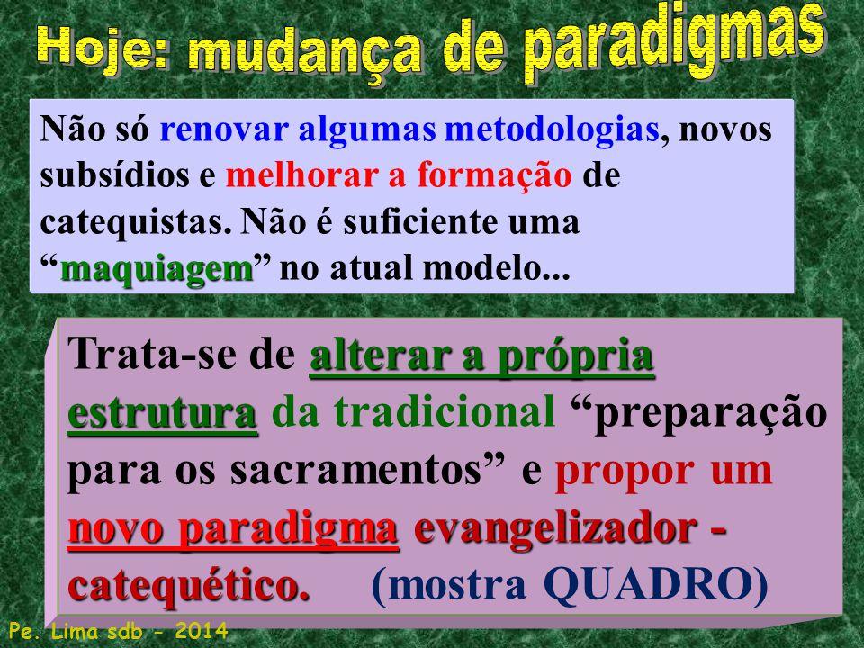 84 maquiagem Não só renovar algumas metodologias, novos subsídios e melhorar a formação de catequistas.
