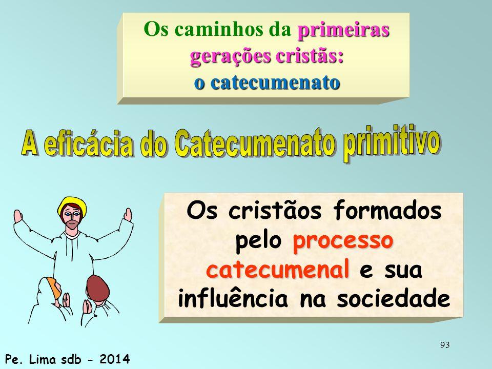 93 processo catecumenal Os cristãos formados pelo processo catecumenal e sua influência na sociedade Pe.
