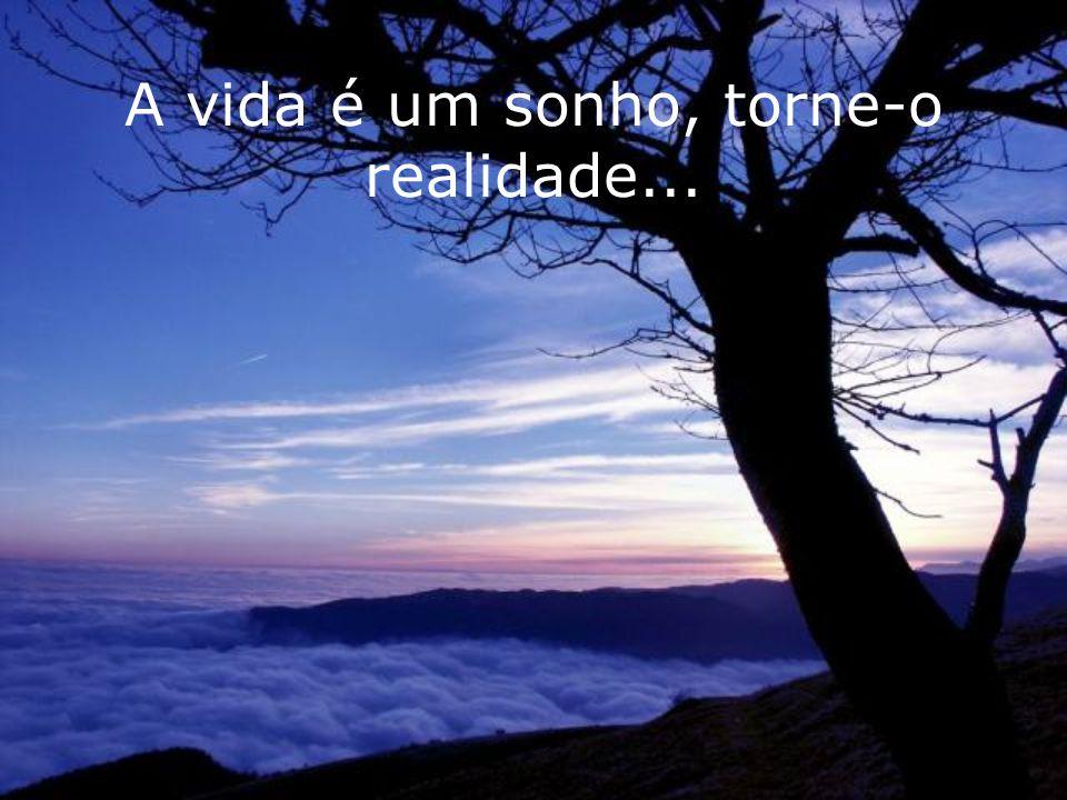 A vida é um sonho, torne-o realidade...