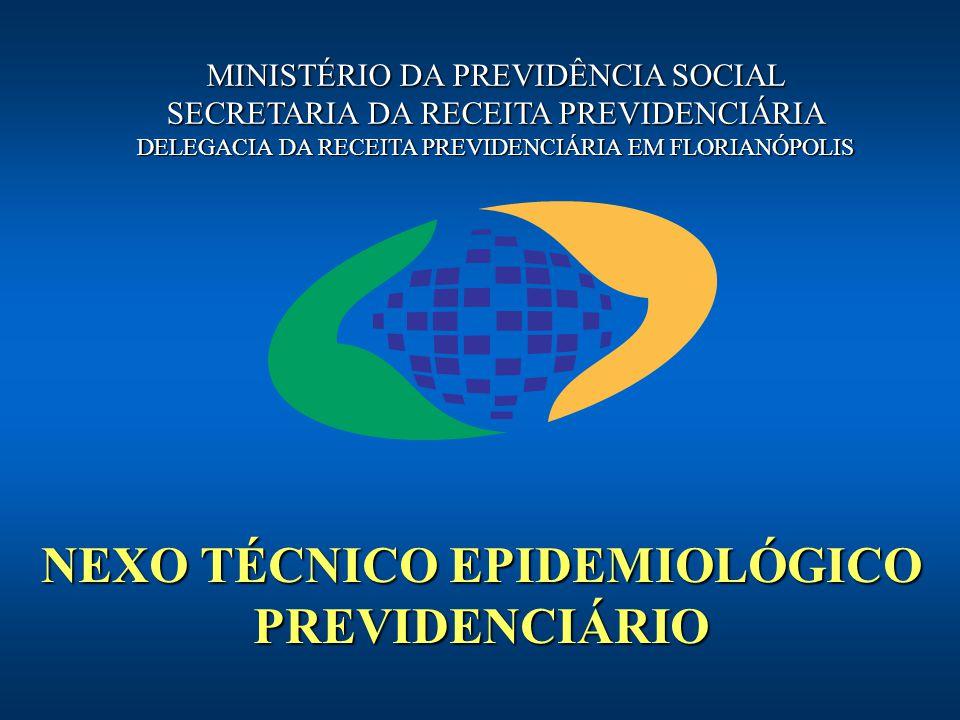 NEXO TÉCNICO EPIDEMIOLÓGICO PREVIDENCIÁRIO MINISTÉRIO DA PREVIDÊNCIA SOCIAL SECRETARIA DA RECEITA PREVIDENCIÁRIA DELEGACIA DA RECEITA PREVIDENCIÁRIA E