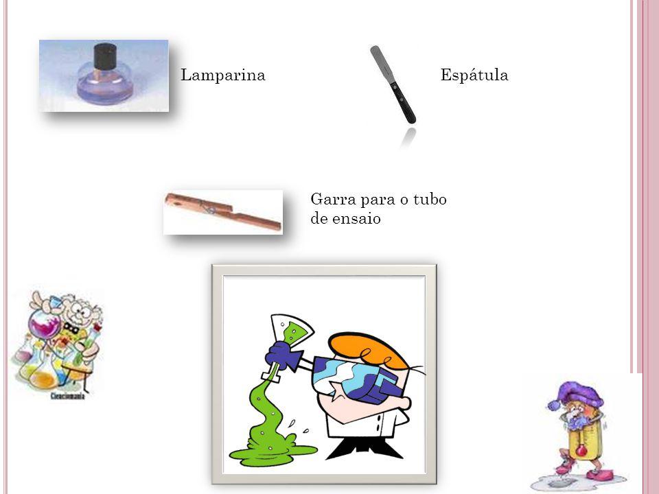LamparinaEspátula Garra para o tubo de ensaio