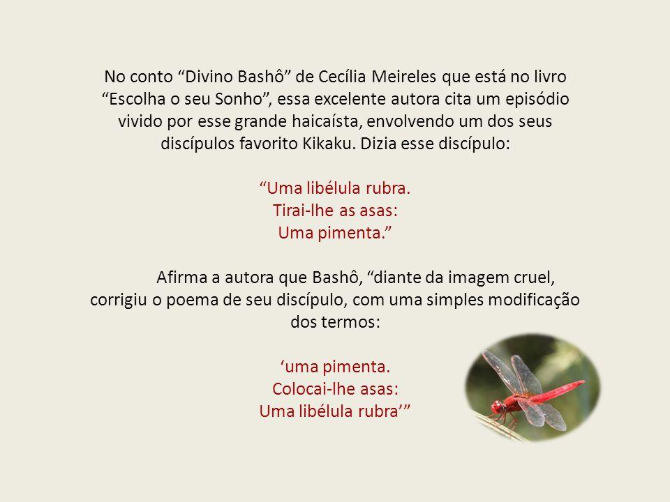 """No conto """"Divino Bashô"""" de Cecília Meireles que está no livro """"Escolha o seu Sonho"""", essa excelente autora cita um episódio vivido por esse grande hai"""