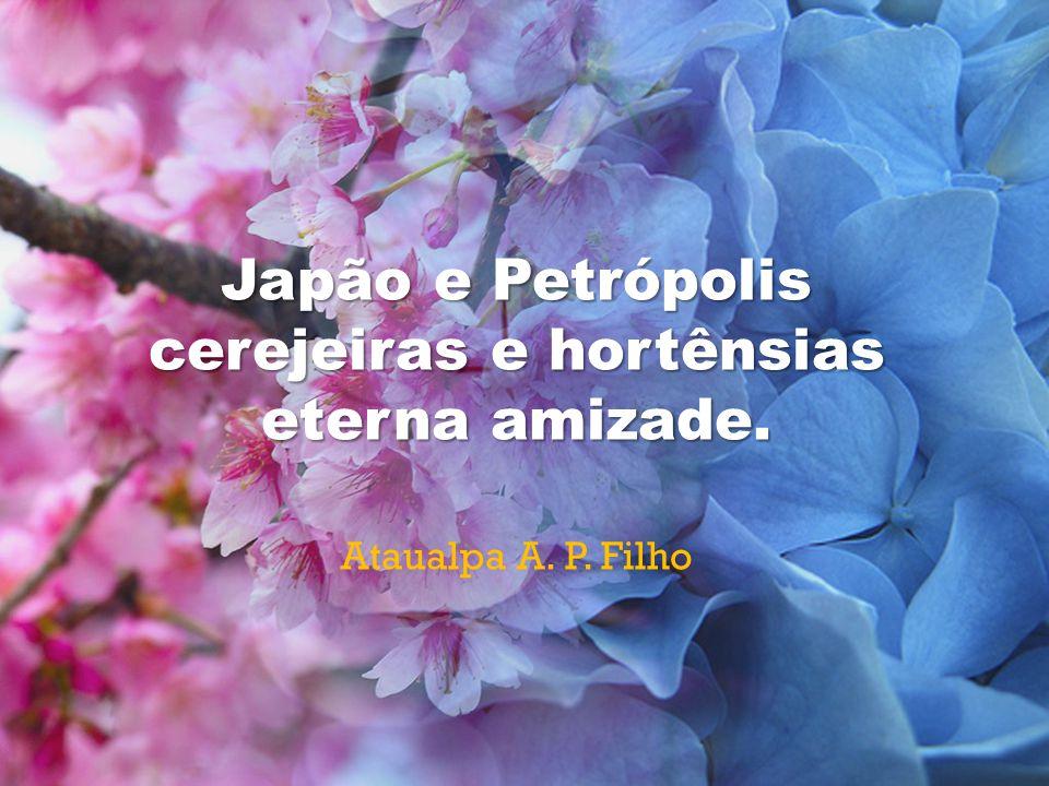 Japão e Petrópolis cerejeiras e hortênsias eterna amizade. Ataualpa A. P. Filho