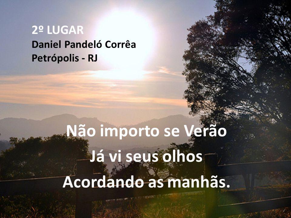 2º LUGAR Daniel Pandeló Corrêa Petrópolis - RJ Não importo se Verão Já vi seus olhos Acordando as manhãs.