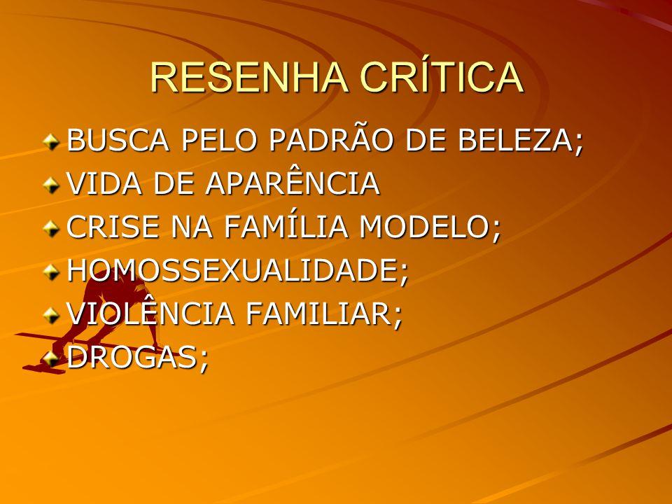 RESENHA CRÍTICA BUSCA PELO PADRÃO DE BELEZA; VIDA DE APARÊNCIA CRISE NA FAMÍLIA MODELO; HOMOSSEXUALIDADE; VIOLÊNCIA FAMILIAR; DROGAS;