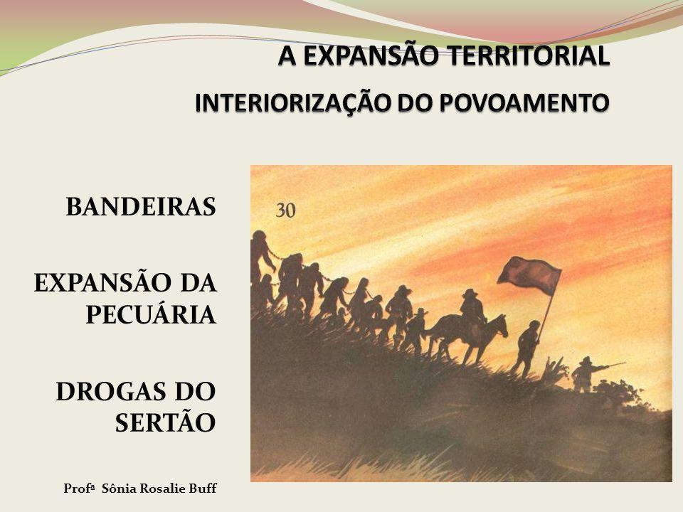 BANDEIRAS EXPANSÃO DA PECUÁRIA DROGAS DO SERTÃO Profª Sônia Rosalie Buff