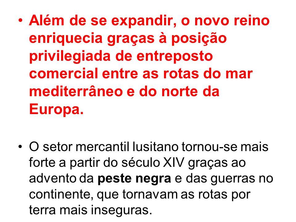Além de se expandir, o novo reino enriquecia graças à posição privilegiada de entreposto comercial entre as rotas do mar mediterrâneo e do norte da Eu