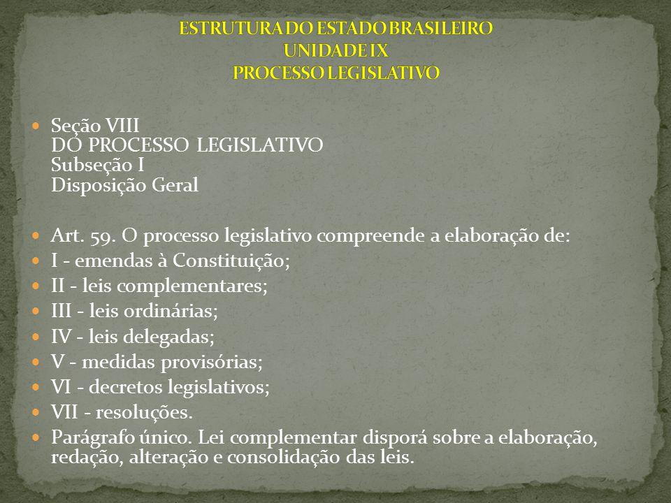 Subseção II Da Emenda à Constituição Art.60.