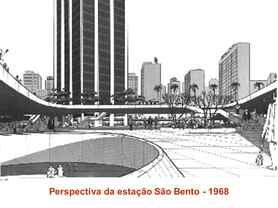 Perspectiva da estação São Bento - 1968