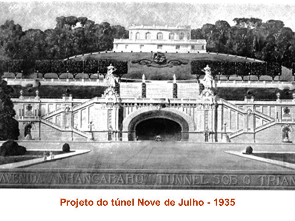 Projeto do túnel Nove de Julho - 1935