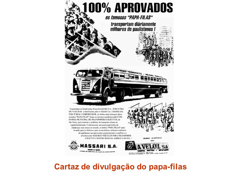 Cartaz de divulgação do papa-filas