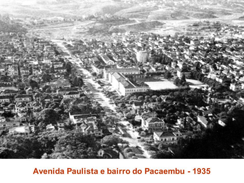 Avenida Paulista e bairro do Pacaembu - 1935