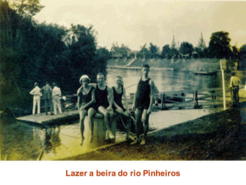 Lazer a beira do rio Pinheiros