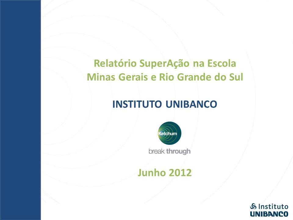 Relatório SuperAção na Escola Minas Gerais e Rio Grande do Sul INSTITUTO UNIBANCO Junho 2012