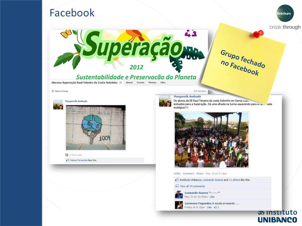 Grupo fechado no Facebook
