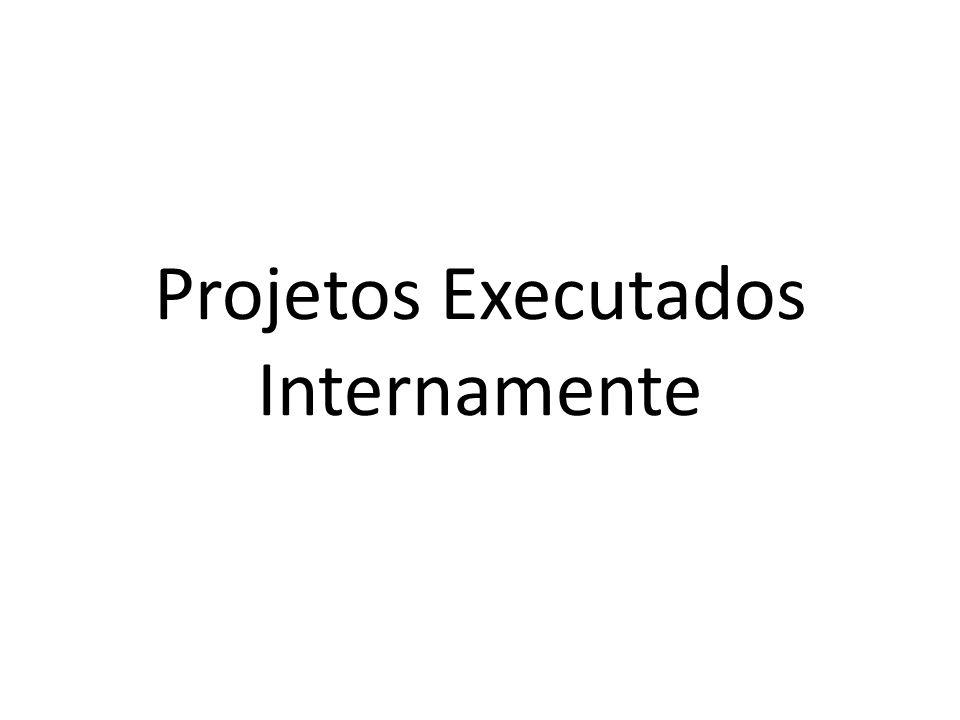 Projetos Executados Internamente