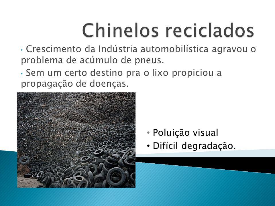 Crescimento da Indústria automobilística agravou o problema de acúmulo de pneus. Sem um certo destino pra o lixo propiciou a propagação de doenças. Po
