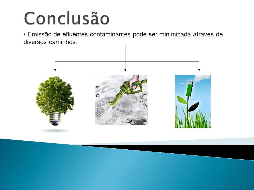 Emissão de efluentes contaminantes pode ser minimizada através de diversos caminhos.