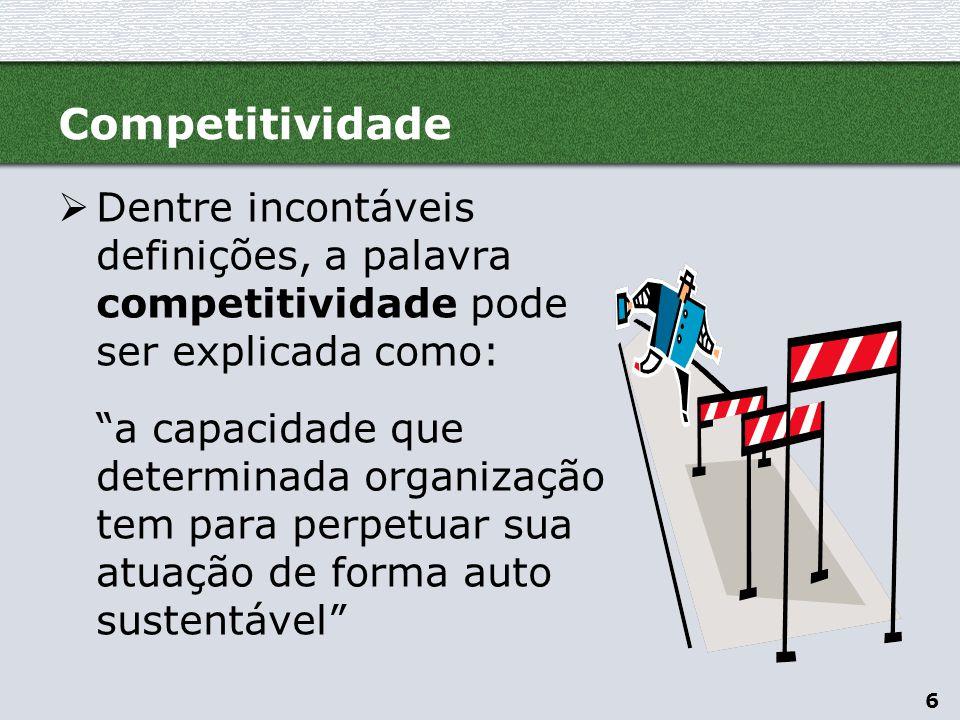 7  O conceito de competitividade pode ser entendido a partir de duas dimensões complementares, a serem consideradas sempre sob uma perspectiva de longo prazo...