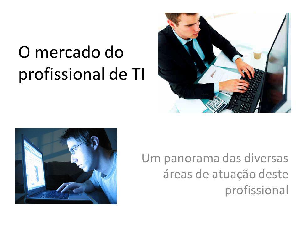 O mercado do profissional de TI Um panorama das diversas áreas de atuação deste profissional