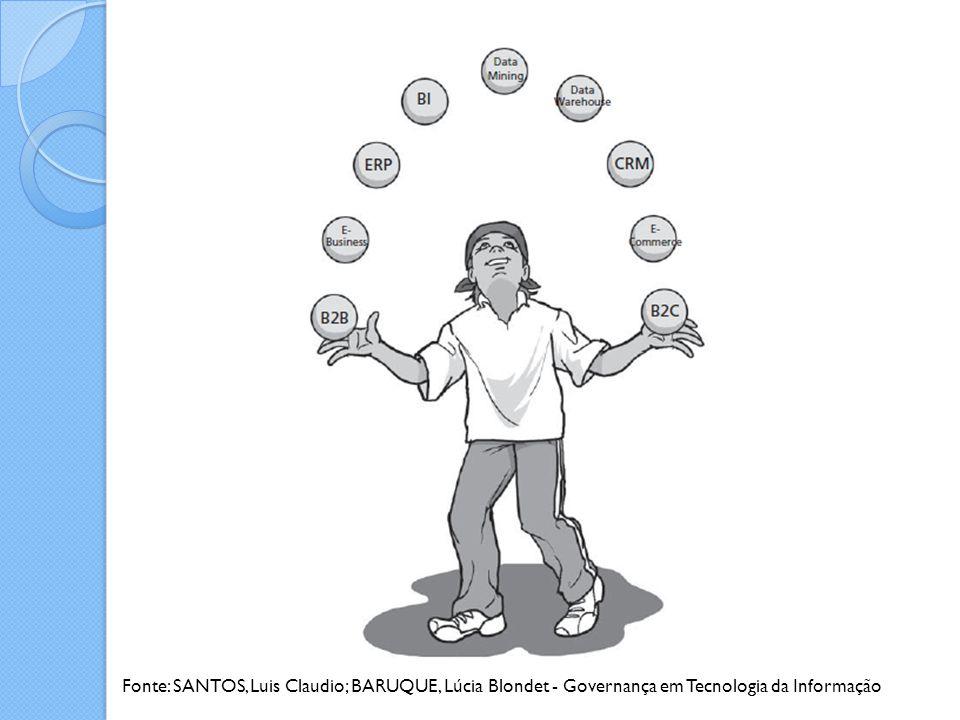 Fonte: SANTOS, Luis Claudio; BARUQUE, Lúcia Blondet - Governança em Tecnologia da Informação