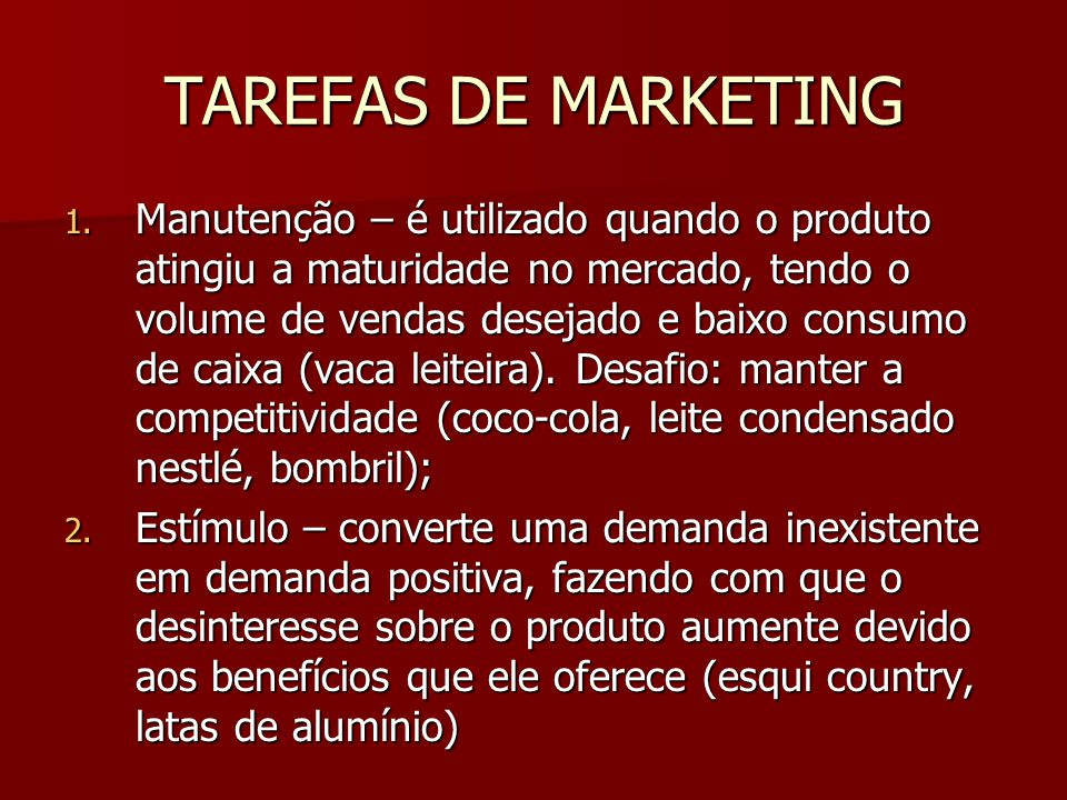 TAREFAS DE MARKETING 1.