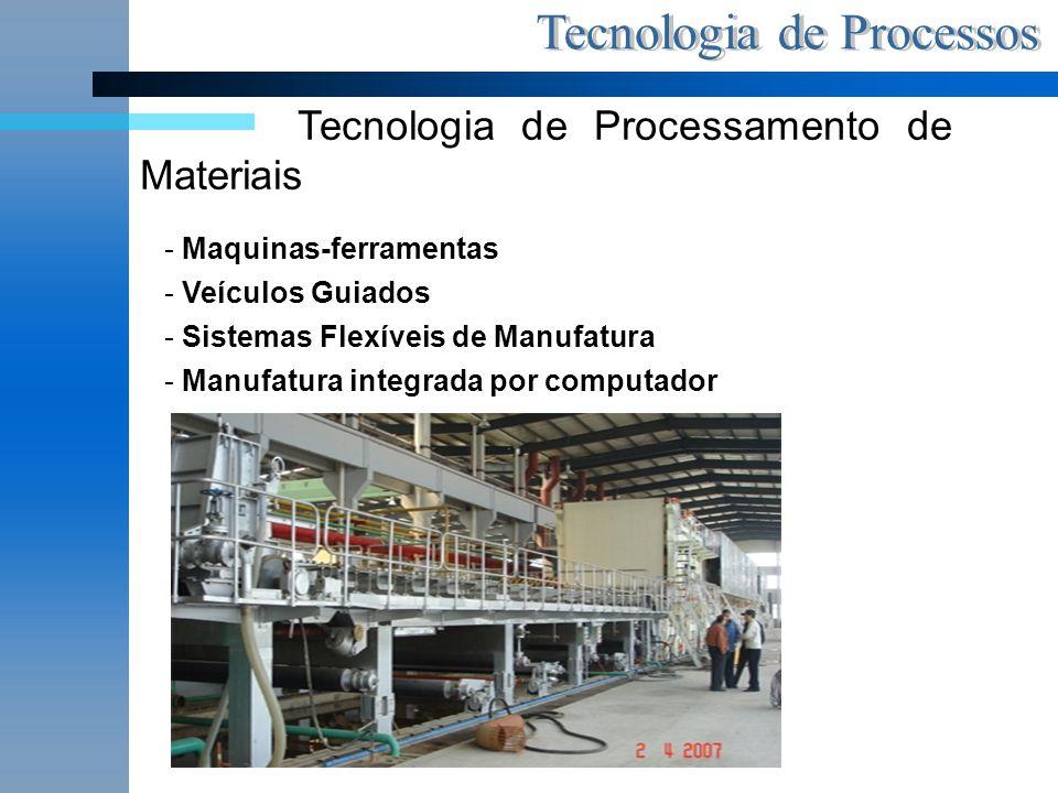 Tecnologia de Processamento de Materiais - Maquinas-ferramentas - Veículos Guiados - Sistemas Flexíveis de Manufatura - Manufatura integrada por compu