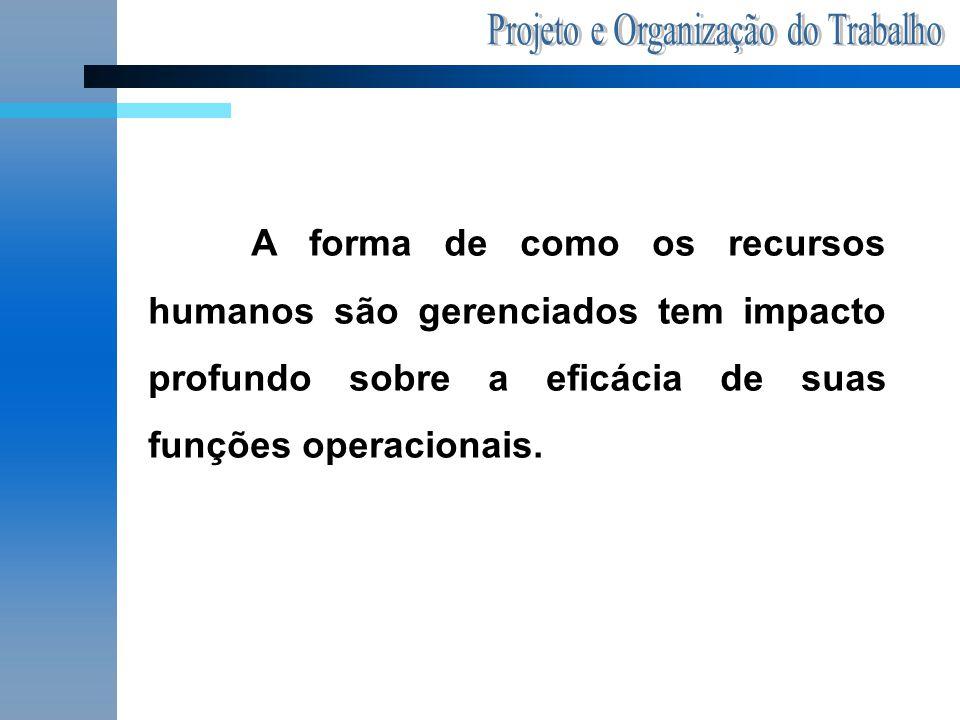 A forma de como os recursos humanos são gerenciados tem impacto profundo sobre a eficácia de suas funções operacionais.