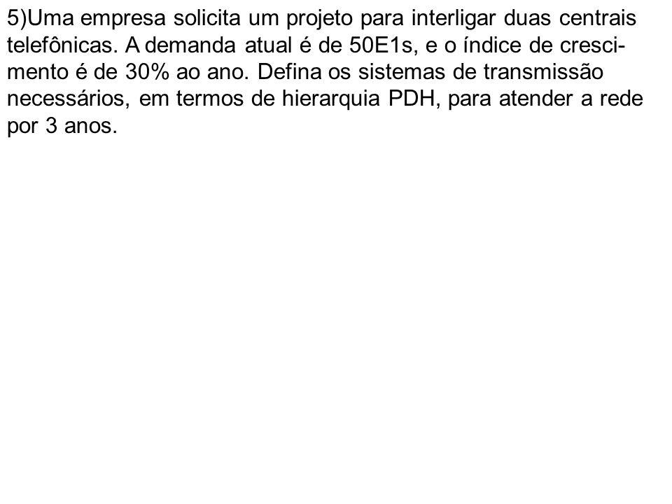 5)Uma empresa solicita um projeto para interligar duas centrais telefônicas.