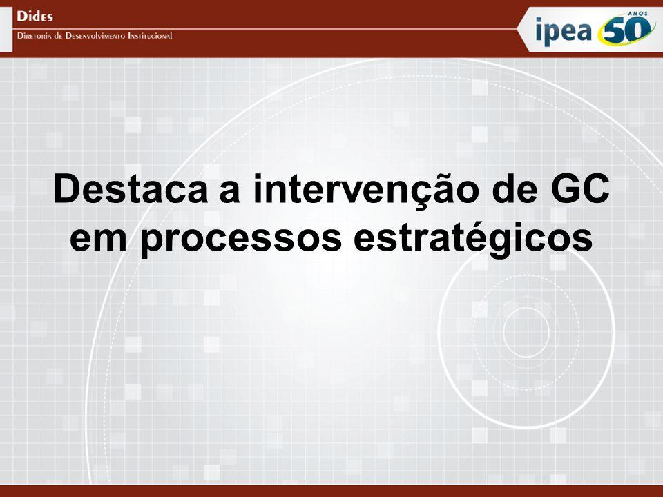 Destaca a intervenção de GC em processos estratégicos