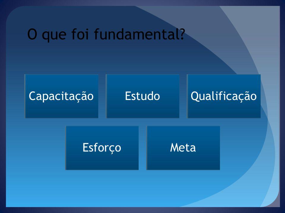 O que foi fundamental CapacitaçãoEstudoQualificação EsforçoMeta