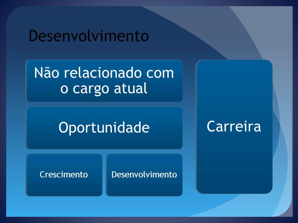 Desenvolvimento Não relacionado com o cargo atual Oportunidade CrescimentoDesenvolvimento Carreira