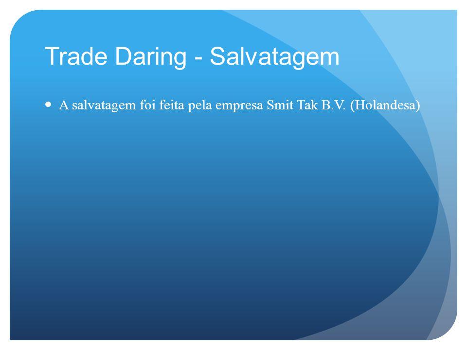 Trade Daring - Salvatagem A salvatagem foi feita pela empresa Smit Tak B.V. (Holandesa)