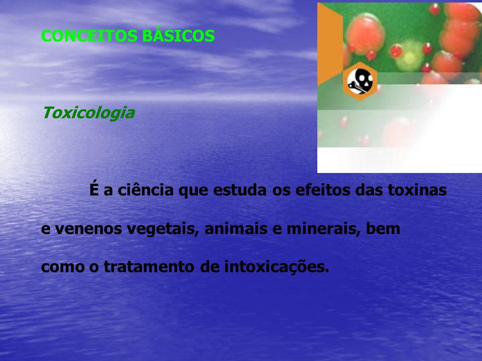 A toxicologia se apóia, então, em três elementos básicos: 1) O agente químico (AQ) capaz de produzir um efeito; 2) O sistema biológico (SB) com o qual o AQ irá interagir para produzir o efeito; 3) O efeito resultante que deverá ser adverso para o SB.