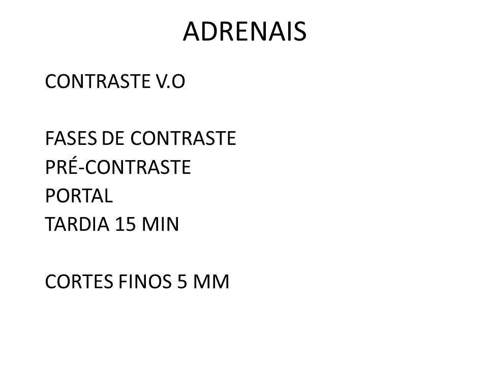 ADRENAIS CONTRASTE V.O FASES DE CONTRASTE PRÉ-CONTRASTE PORTAL TARDIA 15 MIN CORTES FINOS 5 MM