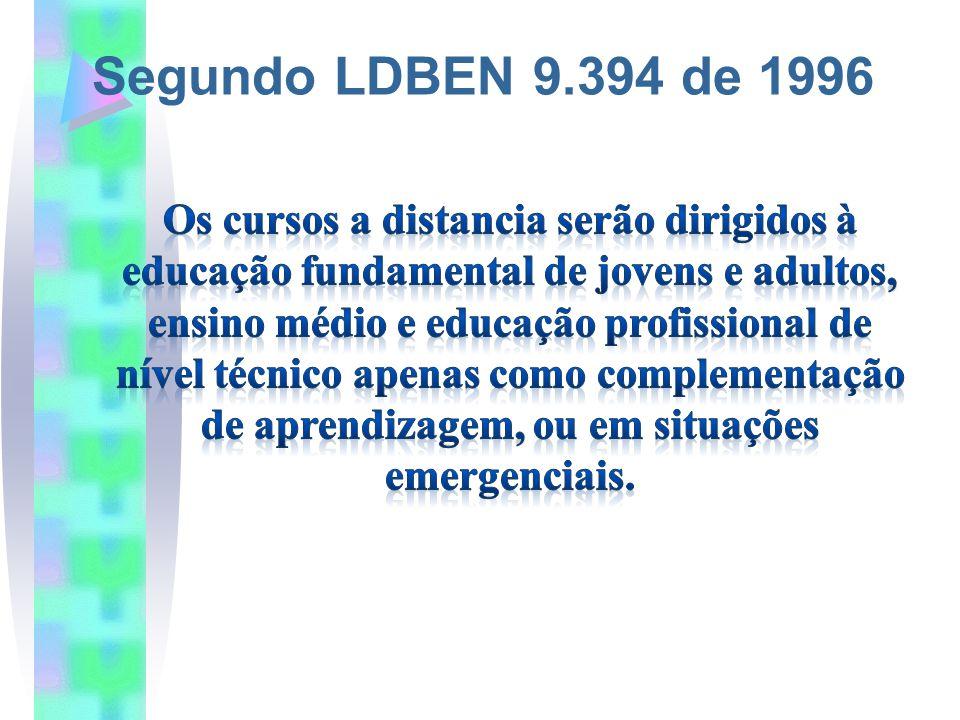 Segundo LDBEN 9.394 de 1996