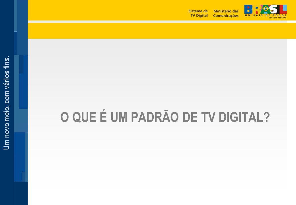 Um novo meio, com vários fins. O QUE É UM PADRÃO DE TV DIGITAL?