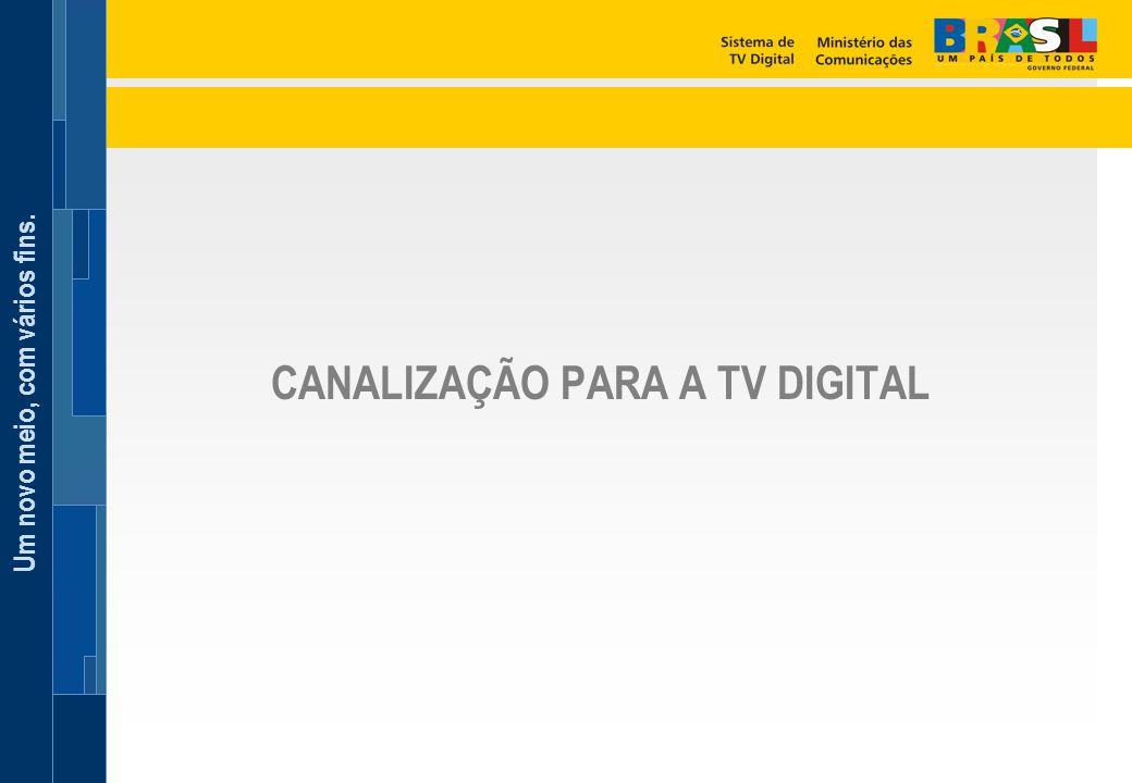 Um novo meio, com vários fins. CANALIZAÇÃO PARA A TV DIGITAL