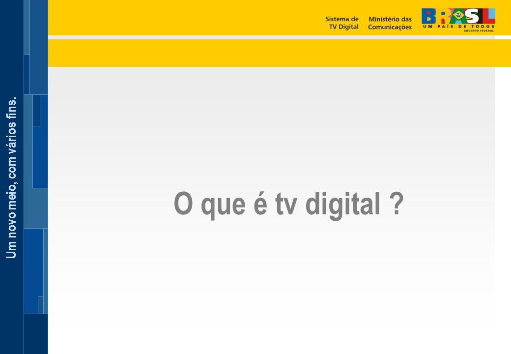 Um novo meio, com vários fins. O que é tv digital ?