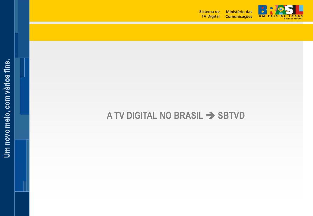 Um novo meio, com vários fins. A TV DIGITAL NO BRASIL  SBTVD