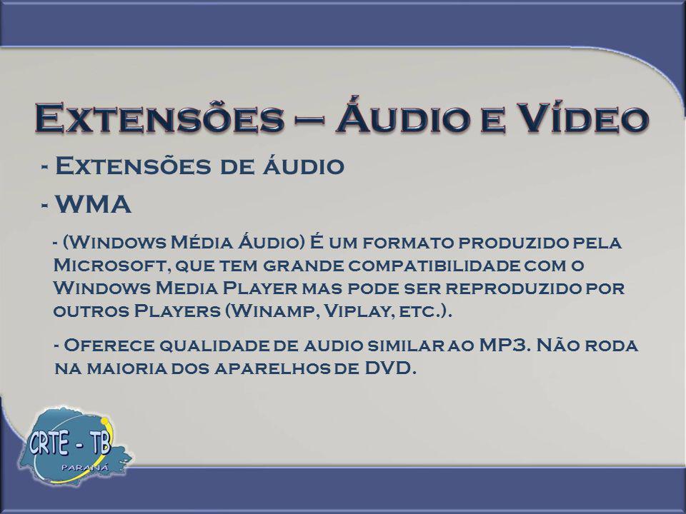 - Extensões de vídeo - MPEG Na década de 80 ficou aparente que a imagem estava tendendo para a tecnologia digital.