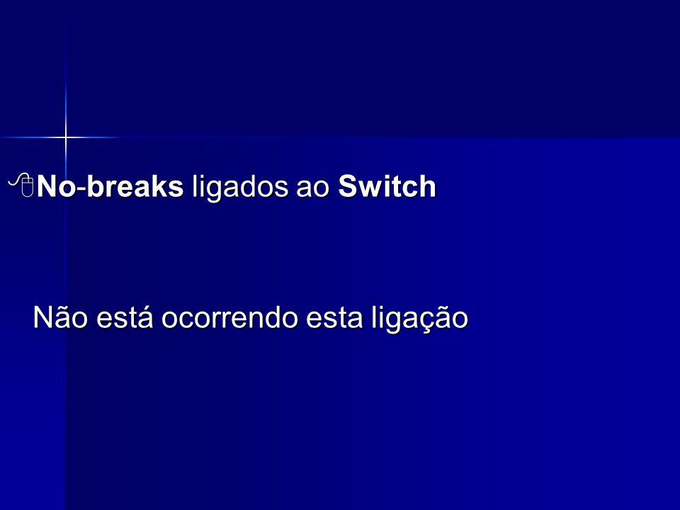  No-breaks ligados ao Switch Não está ocorrendo esta ligação